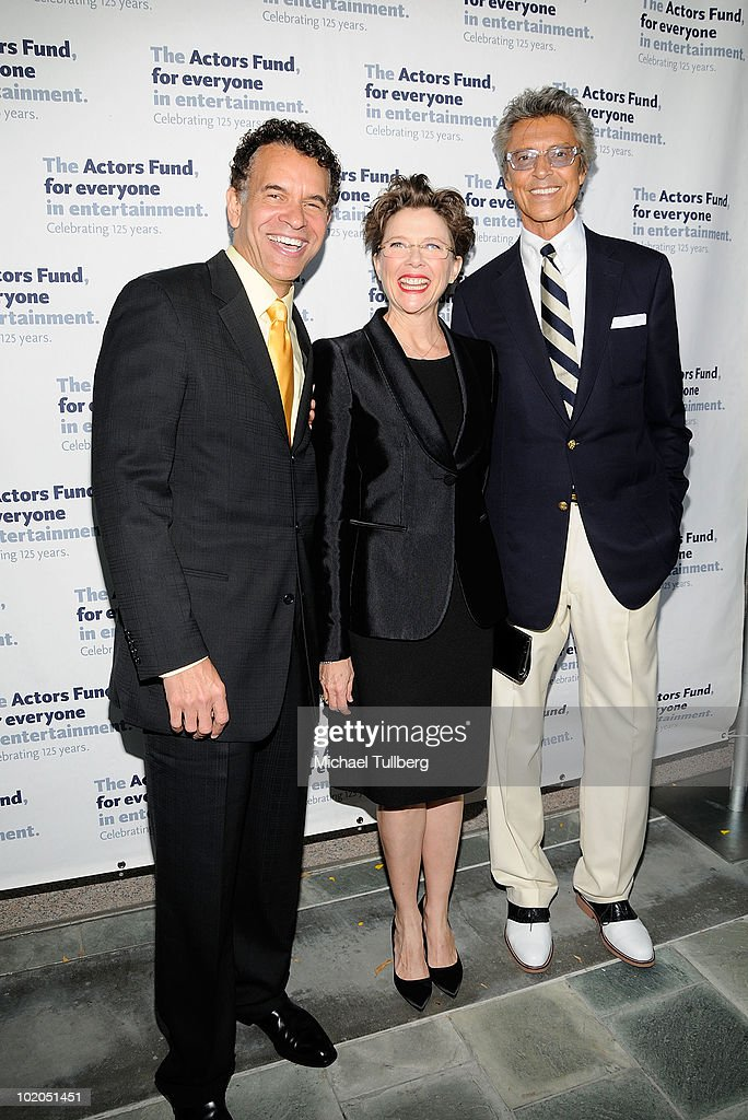 Actors <a gi-track='captionPersonalityLinkClicked' href=/galleries/search?phrase=Brian+Stokes+Mitchell&family=editorial&specificpeople=213301 ng-click='$event.stopPropagation()'>Brian Stokes Mitchell</a>, <a gi-track='captionPersonalityLinkClicked' href=/galleries/search?phrase=Annette+Bening&family=editorial&specificpeople=202568 ng-click='$event.stopPropagation()'>Annette Bening</a> and <a gi-track='captionPersonalityLinkClicked' href=/galleries/search?phrase=Tommy+Tune&family=editorial&specificpeople=208783 ng-click='$event.stopPropagation()'>Tommy Tune</a> arrive at the 14th Annual Actors Fund Tony Awards Party on June 13, 2010 in Los Angeles, California.