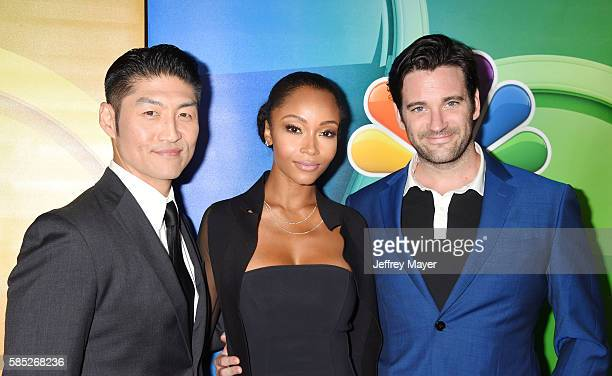 Actors Brian Tee Yaya DaCosta and Colin Donnell attend the NBCUniversal Press Tour at the Beverly Hilton Hotel on August 2 2016 in Beverly Hills...