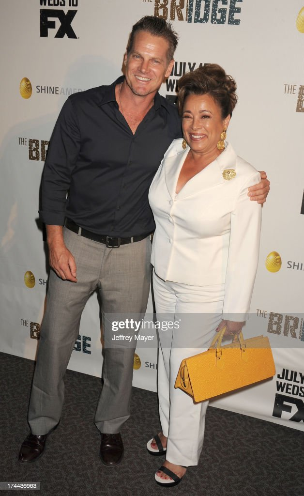 Actors <a gi-track='captionPersonalityLinkClicked' href=/galleries/search?phrase=Brian+Van+Holt&family=editorial&specificpeople=1667272 ng-click='$event.stopPropagation()'>Brian Van Holt</a> and Alma Martinez arrive at the Series Premiere Of FX's 'The Bridge' at DGA Theater on July 8, 2013 in Los Angeles, California.