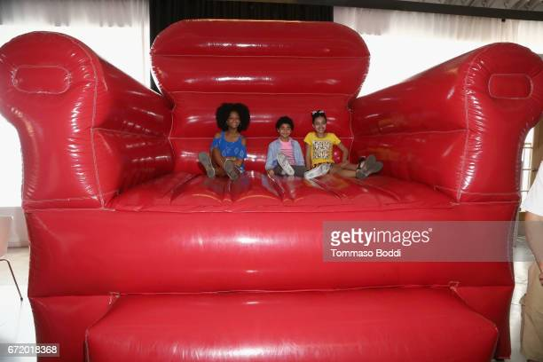 Actors Brianna Reed Anderson Slayton and Journey Slayton attend Safe Kids Day 2017 at Smashbox Studios on April 23 2017 in Culver City California