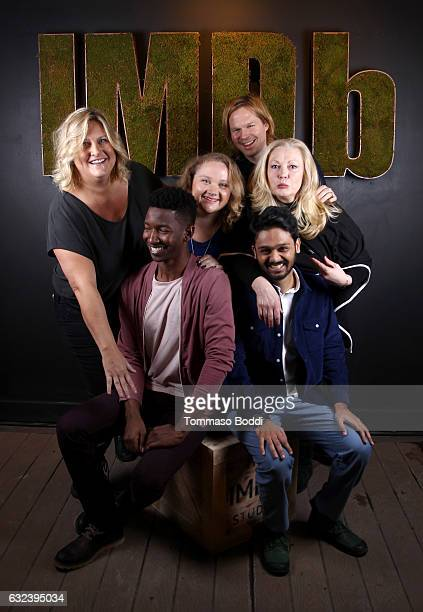 Actors Bridget Everett Mamoudou Athie Danielle Macdonald director Geremy Jasper actors Cathy Moriarty and Siddharth Dhananjay of Patti Cake$ attend...