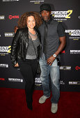 Actors Bridgid Coulter and Don Cheadle Jr arrive at Showtime's VIP prefight party for 'Mahem Mayweather vs Maidana 2' at the MGM Grand Garden Arena...