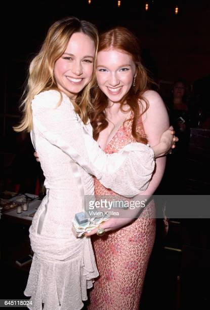 Actors Brie Larson and Annalise Basso attend the tenth annual Women in Film PreOscar Cocktail Party presented by Max Mara and BMW at Nightingale...