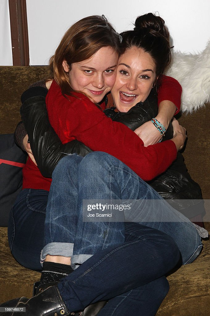 Actors Brie Larson and Shailene Woodley attend Day 1 of the Variety Studio at 2013 Sundance Film Festival on January 19, 2013 in Park City, Utah.