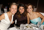Actors Brie Larson Melonie Diaz and Ahna O'Reilly attend ELLE's 20th Annual Women In Hollywood Celebration at Four Seasons Hotel Los Angeles at...