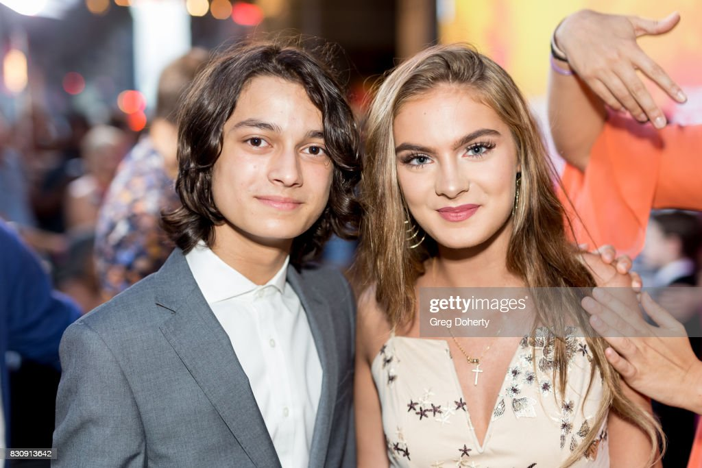 Actors Brighton Sharbino and Rio Mangini arrive for the 2017 Sundance NEXT FEST at The Theater at The Ace Hotel on August 12, 2017 in Los Angeles, California.