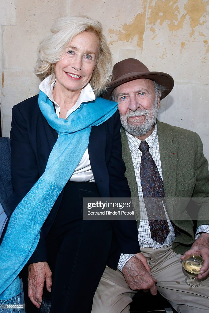 Actors Brigitte Fossey and JeanPierre Marielle attend Museum Paul Belmondo celebrates its 5th Anniversary on April 13 2015 in BoulogneBillancourt...