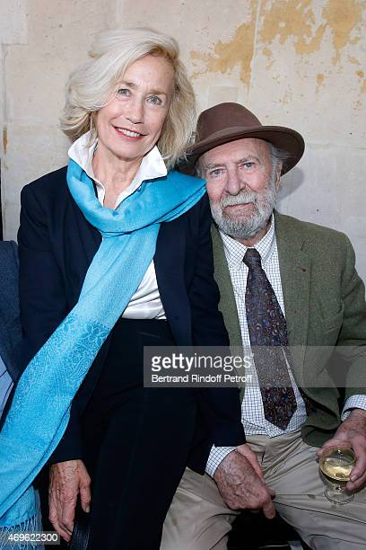 Actors Brigitte Fossey and JeanPierre Marielle attend Museum Paul Belmondo celebrates its 5th Anniversary on April 13 2015 in BoulogneBillancourt...