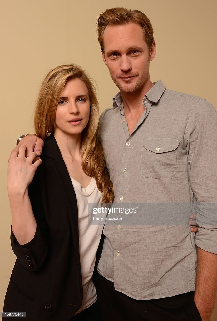 Actors <a gi-track='captionPersonalityLinkClicked' href=/galleries/search?phrase=Brit+Marling&family=editorial&specificpeople=701867 ng-click='$event.stopPropagation()'>Brit Marling</a> (L) and Alexander Skarsgard pose for a portrait during the 2013 Sundance Film Festival at the Getty Images Portrait Studio at Village at the Lift on January 20, 2013 in Park City, Utah.