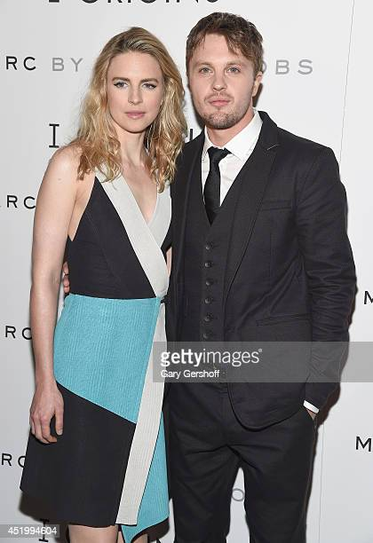 Actors Brit Marling and Michael Pitt attend the 'I Origins' New York Premiere at Landmark's Sunshine Cinema on July 10 2014 in New York City