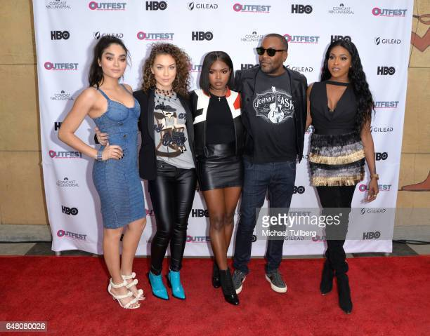 Actors Brittany O'Grady Jude Demorest and Ryan Destiny executive producer Lee Daniels and actress Amiyah Scott attend a screening of 'Star at the...