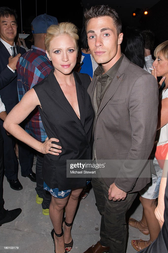 Actors <a gi-track='captionPersonalityLinkClicked' href=/galleries/search?phrase=Brittany+Snow&family=editorial&specificpeople=206624 ng-click='$event.stopPropagation()'>Brittany Snow</a> (L) and <a gi-track='captionPersonalityLinkClicked' href=/galleries/search?phrase=Colton+Haynes&family=editorial&specificpeople=4282136 ng-click='$event.stopPropagation()'>Colton Haynes</a> attend the Diane Von Furstenberg After Show Dinner at The Diller - Von Furstenberg Building on September 8, 2013 in New York City.