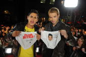 Actors Bronson Pelletier and Kellan Lutz visit MuchOnDemand to promote their new movie 'The Twilight Saga New Moon' at the MuchMusic HQ on November...