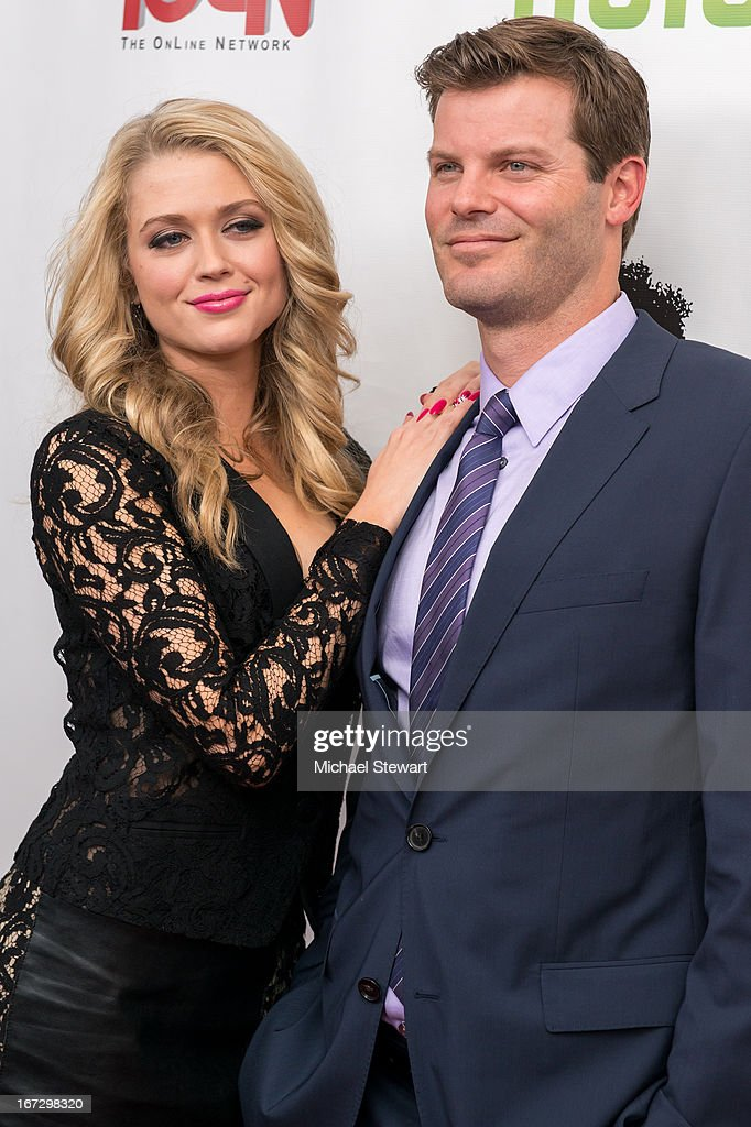 Actors Brooke Newton (L) and Ryan Bittle attend the 'All My Children' & 'One Life To Live' premiere at Jack H. Skirball Center for the Performing Arts on April 23, 2013 in New York City.