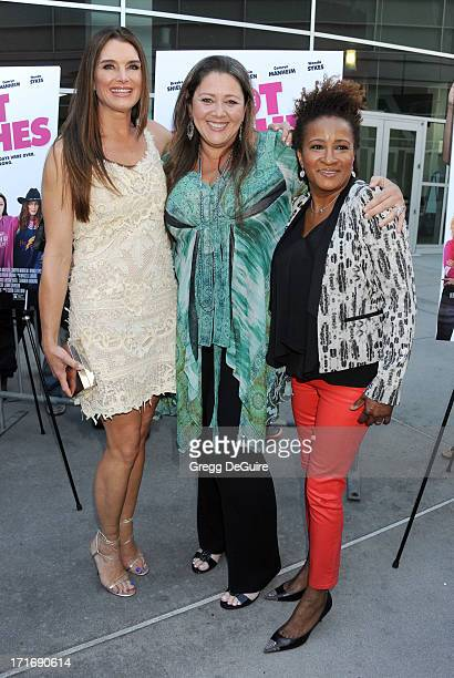 Actors Brooke Shields Camryn Manheim and Wanda Sykes arrive at the Los Angeles premiere of 'The Hot Flashes' at ArcLight Cinemas on June 27 2013 in...