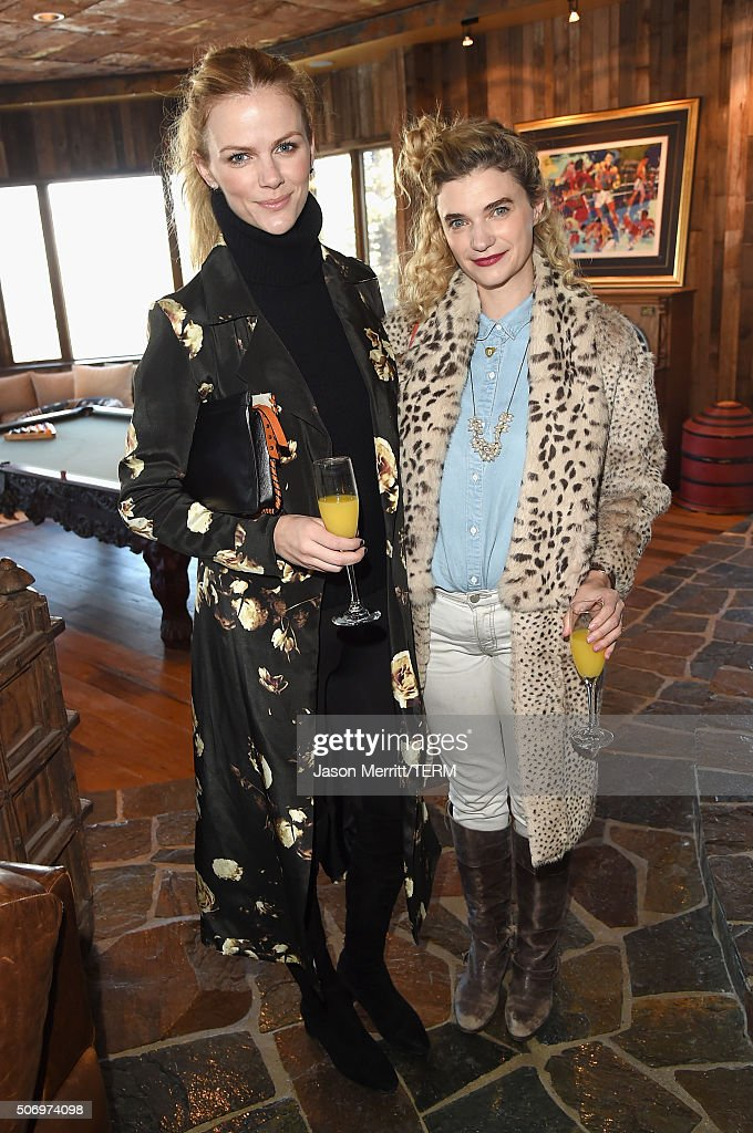 Actors Brooklyn Decker and Megan Ferguson attend Glamour's Women Rewriting Hollywood Lunch at Sundance Hosted By Lena Dunham Jenni Konner and Cindi...