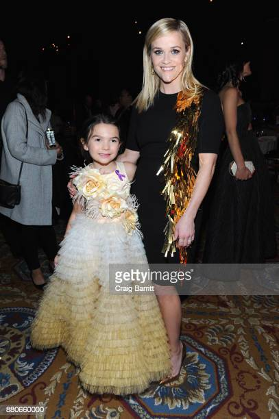 Actors Brooklynn Prince and Reese Witherspoon attend The 2017 IFP Gotham Independent Film Awards cosponsored by FIJI Water at Cipriani Wall Street on...