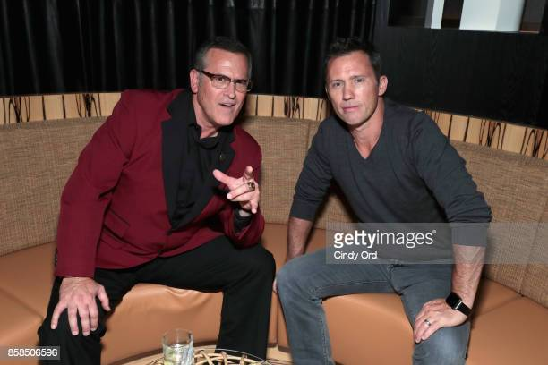 Actors Bruce Campbell and Jeffrey Donovan attend Hulu's New York Comic Con After Party at The Lobster Club on October 6 2017 in New York City