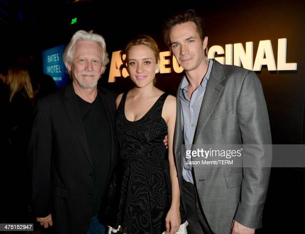 Actors Bruce Davison Chloe Sevigny and James D'Arcy attend AE's 'Bates Motel' and 'Those Who Kill' Premiere Party at Warwick on February 26 2014 in...