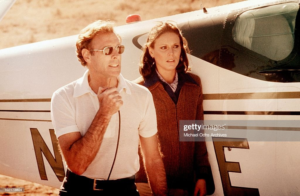 Actors Bruce Dern and Marthe Keller in a scene from the movie 'Black Sunday' in 1977.