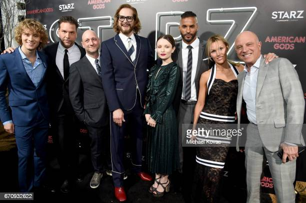 Actors Bruce Langley Dane Cook Writer/executive producer Michael Green Writer/executive producer Bryan Fuller actors Emily Browning Ricky Whittle...