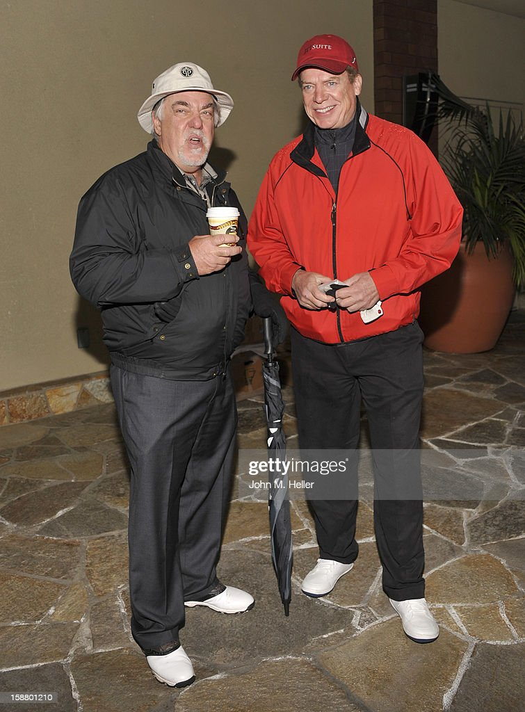 Actors Bruce McGill and Christopher McDonald attend the first annual Rose Bowl Golf Classic at the Pacific Palms Resort & Hotel on December 29, 2012 in City of Industry, California.