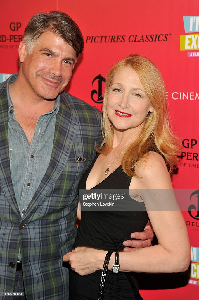 Actors Bryan Batt and Praticia Clarkson atttend Girard-Perregaux And The Cinema Society With DeLeon Host a Screening Of Sony Pictures Classics' 'I'm So Excited' at Sunshine Landmark on June 6, 2013 in New York City.