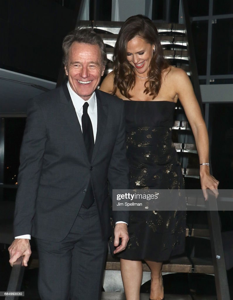 Actors Bryan Cranston and Jennifer Garner attend the after party for the screening of IFC Films' 'Wakefield' hosted by The Cinema Society at Hotel on Rivington on May 18, 2017 in New York City.