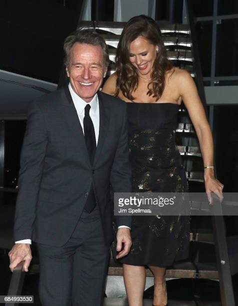 Actors Bryan Cranston and Jennifer Garner attend the after party for the screening of IFC Films' 'Wakefield' hosted by The Cinema Society at Hotel on...