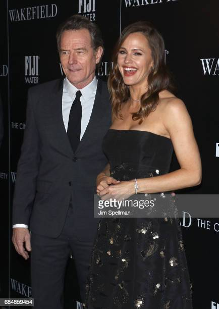 Actors Bryan Cranston and Jennifer Garner attend the screening of IFC Films' 'Wakefield' hosted by The Cinema Society at Landmark Sunshine Cinema on...