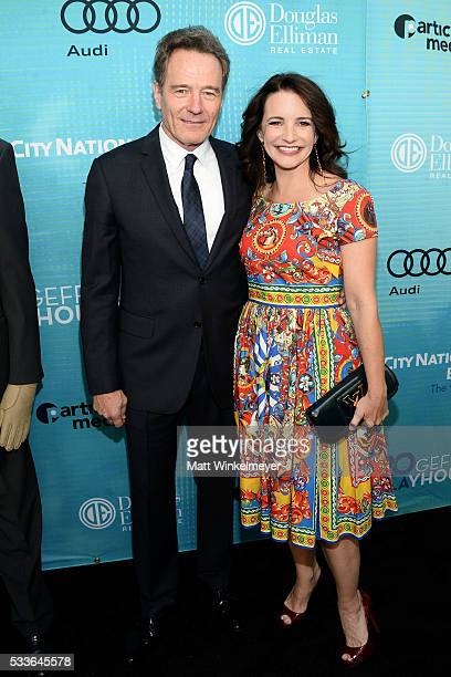 Actors Bryan Cranston and Kristin Davis attend Backstage at the Geffen at Geffen Playhouse on May 22 2016 in Los Angeles California