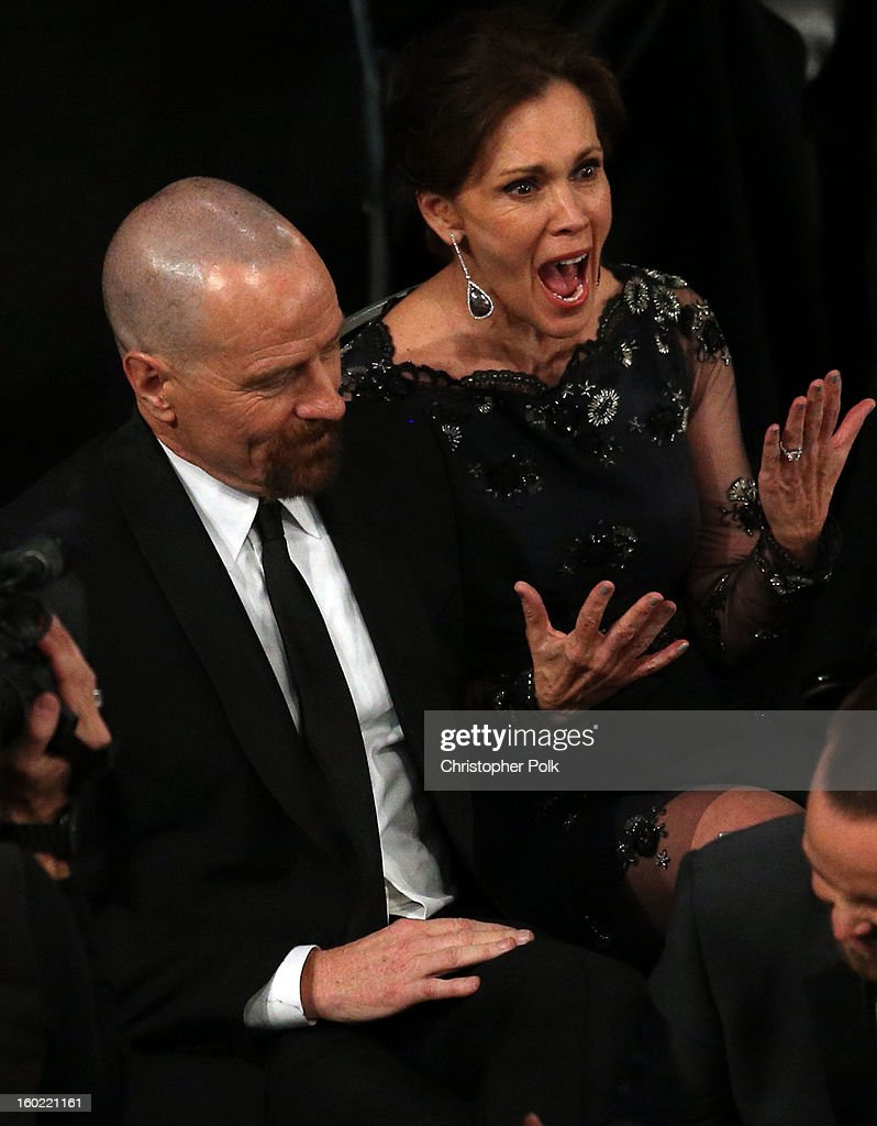 Actors Bryan Cranston and Robin Dearden attend the 19th Annual Screen Actors Guild Awards at The Shrine Auditorium on January 27, 2013 in Los Angeles, California. (Photo by Christopher Polk/WireImage) 23116_012_1260.JPG