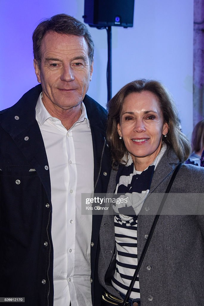 Actors <a gi-track='captionPersonalityLinkClicked' href=/galleries/search?phrase=Bryan+Cranston&family=editorial&specificpeople=217768 ng-click='$event.stopPropagation()'>Bryan Cranston</a> and <a gi-track='captionPersonalityLinkClicked' href=/galleries/search?phrase=Robin+Dearden&family=editorial&specificpeople=2292273 ng-click='$event.stopPropagation()'>Robin Dearden</a> pose for a photo during the 2016 CNN Correspondents' Brunch at the Longview gallery in Washington, DC on May 1, 2016.