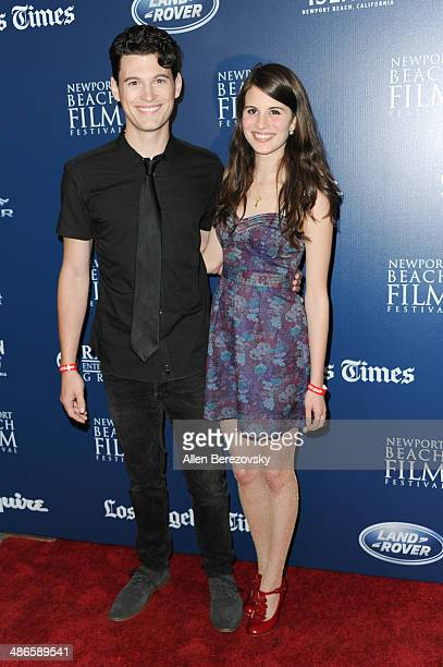 Actors Bryan Dechart and Amelia Rose Blaire attend a special screening of 'LOVESICK' during 2014 Newport Beach Film Festival at Big Newport Theater...