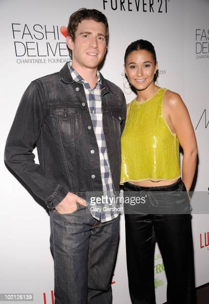 Actors Bryan Greenberg and Emmanuelle Chriqui attend Pay It Fashion Forward at Lucky Strike Lanes Lounge on June 15 2010 in New York City