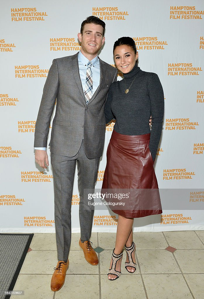 Actors Bryan Greenberg (L) and Emmanuelle Chriqui attend the 21st Annual Hamptons International Film Festival on October 12, 2013 in East Hampton, New York.