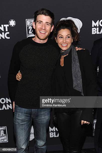 Actors Bryan Greenberg and Gina Gershon attend Montblanc Presents The 13th Annual 24 Hour Plays On Broadway After Party at BB King Blues Club Grill...