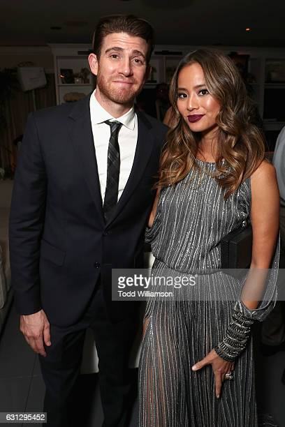 Actors Bryan Greenberg and Jamie Chung attend Amazon Studios Golden Globes Celebration at The Beverly Hilton Hotel on January 8 2017 in Beverly Hills...