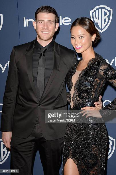 Actors Bryan Greenberg and Jamie Chung attend the 2014 InStyle and Warner Bros 71st Annual Golden Globe Awards PostParty on January 12 2014 in...