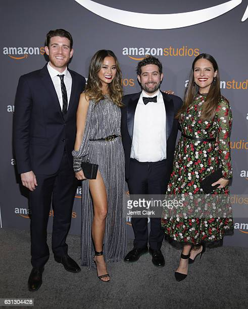 Actors Bryan Greenberg Jamie Chung Head of Television Joe Lewis and actress Yara Martinez attend the Amazon Studios Golden Globes Party at The...