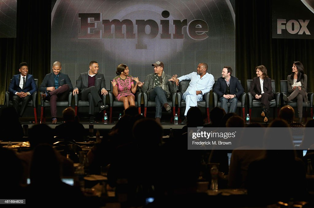Actors Bryshere Gray Jussie Smollett Trai Byers Taraji P Henson Terrence Howard creator/writer/executive producer Lee Daniels...