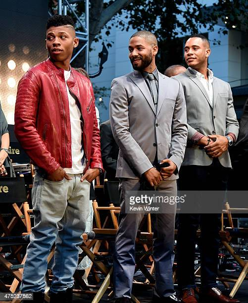 Actors Bryshere 'Yazz' Gray Jussie Smollett and Trai Byers appear onstage at the Television Academy event for Fox Tv's 'Empire' A Performance Under...
