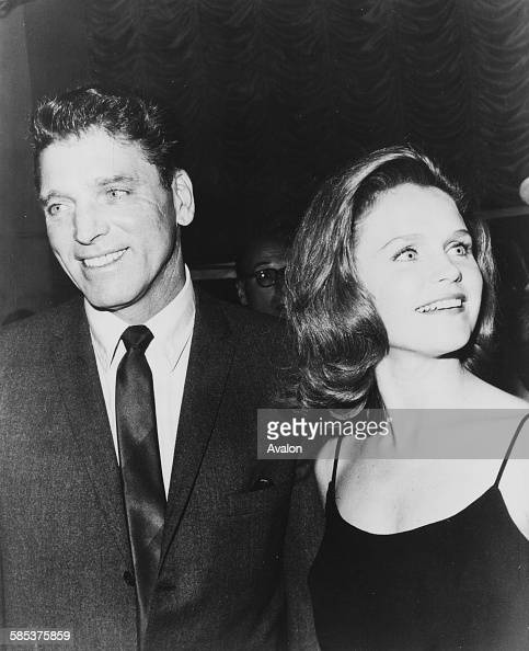 Actors Burt Lancaster and Lee Remick arriving at the premiere of his film 'Hallelujah Trail' in Los Angeles CA July 2nd 1965