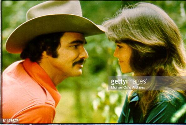 Actors Burt Reynolds and Sally Field in the film 'Smokey and the Bandit'