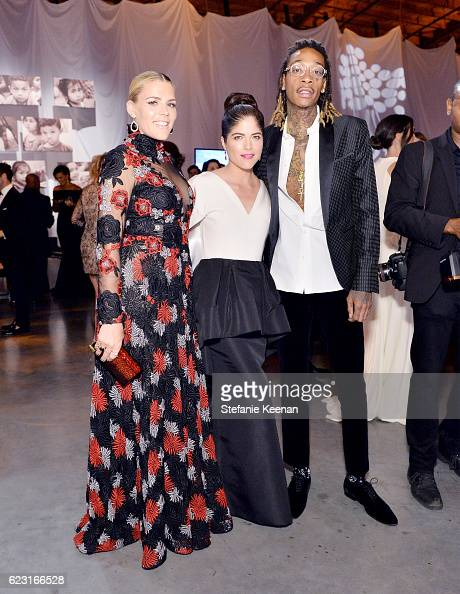 Actors Busy Philipps and Selma Blair and recording artist Wiz Khalifa attend the Fifth Annual Baby2Baby Gala Presented By John Paul Mitchell Systems...