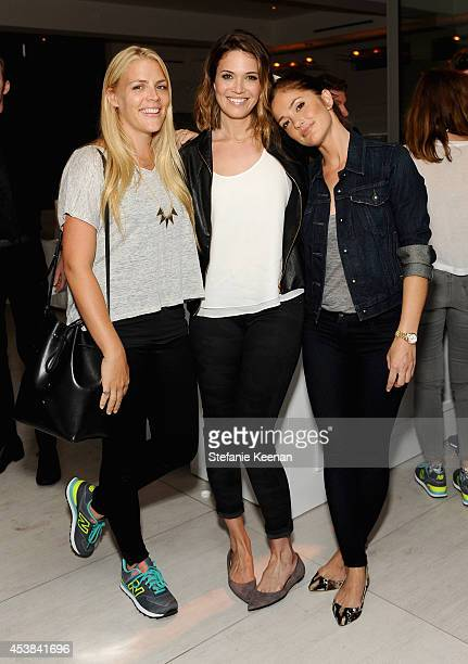 Actors Busy Philipps Mandy Moore and Minka Kelly attend a dance party with New Balance and James Jeans powered by ISKO at the home of Pascal Mouawad...