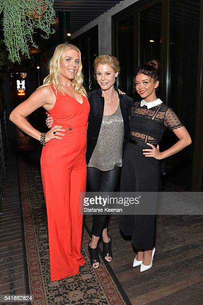 Actors Busy Philipps Sarah Hyland and Julie Bowen attend ELLE Women In Comedy event hosted by ELLE EditorinChief Robbie Myers and Leslie Jones...
