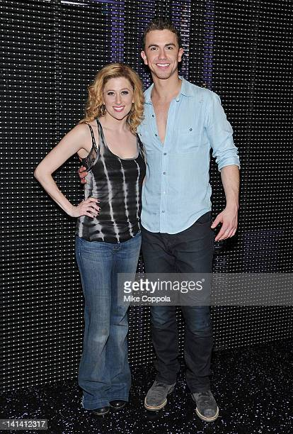 Actors Caissie Levy and Richard Fleeshman attend Broadway's 'Ghost' previews opening night at the LuntFontanne Theatre on March 15 2012 in New York...