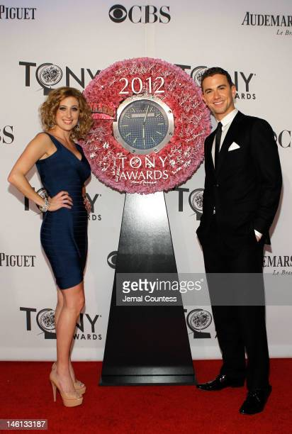Actors Caissie Levy and Richard Fleeshman attend the 66th Annual Tony Awards at The Beacon Theatre on June 10 2012 in New York City