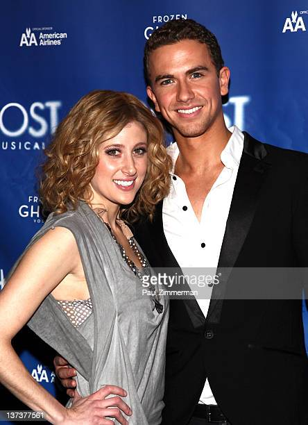 Actors Caissie Levy and Richard Fleeshman attend 'The Ghost Light Sessions' sneak peek at 'Ghost The Musical' at the LuntFontanne Theatre on January...